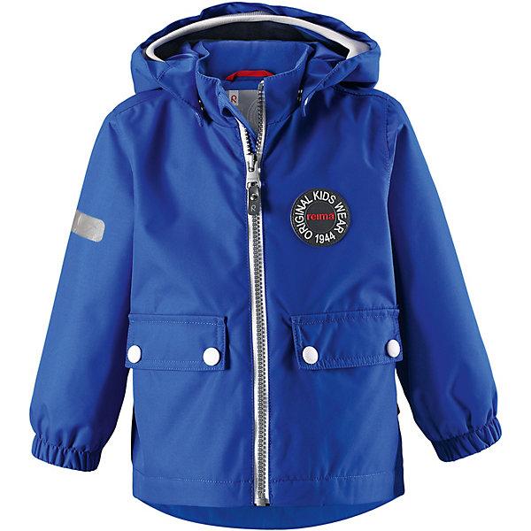Куртка Quilt Reimatec® ReimaВерхняя одежда<br>Характеристики товара:<br><br>• цвет: синий;<br>• состав: 100% полиамид, полиуретановое покрытие;<br>• подкладка: 100% полиэстер;<br>• без дополнительного утепления;<br>• сезон: демисезон;<br>• температурный режим: от +5° до +15°С;<br>• водонепроницаемость: 8000 мм;<br>• воздухопроницаемость: 7000 мм;<br>• износостойкость: 30000 циклов (тест Мартиндейла);<br>• застёжка: молния с защитой подбородка;<br>• водо- и  ветронепроницаемый, дышащий и грязеотталкивающий материал;<br>• водо- и грязеотталкивающая пропитка без содержания фторуглеродов BIONIC-FINISH®ECO<br>• основные швы проклеены и не пропускают влагу;<br>• гладкая подкладка из полиэстера;<br>• безопасный съёмный капюшон;<br>• мягкая резинка на кромке капюшона;<br>• эластичные манжеты на рукавах;<br>• два кармана с клапанами;<br>• светоотражающие детали;<br>• страна бренда: Финляндия.<br><br>Эта необыкновенно популярная куртке с рисунком, посвященным юбилею Reima®, дождь не страшен – все основные швы проклеены, водонепроницаемы. Куртка идеально подойдет для ранних весенних и поздних осенних дней. Куртка с гладкой стеганой подкладкой легко надевается на теплый промежуточный слой – маленьким покорителям погоды в ней будет тепло весь день. Большие карманы с клапанами и светоотражающие детали выполнены в ретро-стиле 70-х.<br><br>Куртку Reima от финского бренда Reima (Рейма) можно купить в нашем интернет-магазине.<br>Ширина мм: 356; Глубина мм: 10; Высота мм: 245; Вес г: 519; Цвет: синий; Возраст от месяцев: 12; Возраст до месяцев: 15; Пол: Унисекс; Возраст: Детский; Размер: 80,98,92,86; SKU: 7636470;