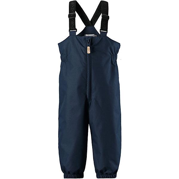 Брюки  ReimaВерхняя одежда<br>Брюки  Reima <br>Эти водонепроницаемые брюки для малышей для прогулок на воздухе весной и осенью гарантируют надежную защиту от ветра и дождя. Они хорошо комбинируются со всеми демисезонными куртками для младенцев Reima®. Удобные, эластичные подтяжки регулируются, предоставляя пространство на вырост. Эластичные штрипки удобно фиксируют низ брючин при ходьбе, защищая щиколотки во время игр на воздухе.<br>Состав:<br>100% Полиэстер, полиуретановое покрытие<br>Ширина мм: 215; Глубина мм: 88; Высота мм: 191; Вес г: 336; Цвет: синий; Возраст от месяцев: 12; Возраст до месяцев: 15; Пол: Унисекс; Возраст: Детский; Размер: 80,98,92,86; SKU: 7636475;