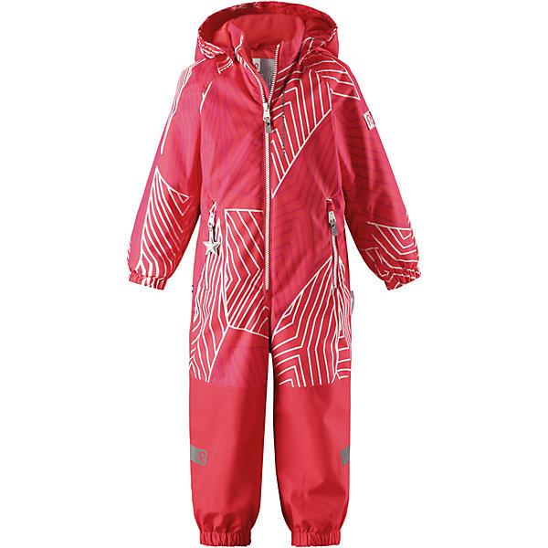 Комбинезон Kiddo Kapelli ReimaВерхняя одежда<br>Характеристики товара:<br><br>• цвет: розовый;<br>• состав: 100% полиамид, полиуретановое покрытие;<br>• подкладка: 100% полиэстер;<br>• лёгкая степень утепления;<br>• сезон: демисезон;<br>• температурный режим: от +5° до +15°С;<br>• водонепроницаемость: 8000/10000 мм;<br>• воздухопроницаемость: 7000/5000 мм;<br>• износостойкость: 30000/50000 циклов (тест Мартиндейла);<br>• застёжка: молния с защитой подбородка;<br>• все швы проклеены и не пропускают влагу;<br>• водо- и ветронепроницаемый, «дышащий» и грязеотталкивающий материал;<br>• водо- и грязеотталкивающая пропитка без содержания фторуглеродов BIONIC-FINISH®ECO;<br>• очень прочные усиленные вставки на штанинах;<br>• сетчатая подкладка вдоль тела, гладкая подкладка из полиэстера на рукавах и брючинах;<br>• безопасный съёмный капюшон;<br>• эластичные манжеты на рукавах и брючинах;<br>• внутренняя регулировка обхвата талии;<br>• карман со специальными креплениями для сенсора ReimaGO® в моделях 104 размера и более<br>• два кармана на молнии;<br>• прочные силиконовые штрипки;<br>• светоотражающие детали;<br>• страна бренда: Финляндия.<br><br>Детский водонепроницаемый комбинезон Reimatec® Kiddo щеголяет свежими весенними расцветками и множеством практичных деталей! Он сшит из ветронепроницаемого и дышащего материала, обладающего водо- и грязеотталкивающими свойствами. Все швы в нем герметично запаяны, поэтому даже ливень не помешает веселым играм на свежем воздухе! <br><br>Нижняя часть изготовлена из высокопрочного материала. Красивая и гладкая подкладка поможет одеться легко и быстро. Безопасный съемный капюшон легко отстегивается, если случайно за что-нибудь зацепится, а все найденные за день маленькие сокровища будут надежно спрятаны в карманах на молнии со светоотражающими элементами.<br><br>Комбинезон Reima от финского бренда Reima (Рейма) можно купить в нашем интернет-магазине.<br>Ширина мм: 356; Глубина мм: 10; Высота мм: 245; Вес г: 519; Цвет: красный; Возраст о