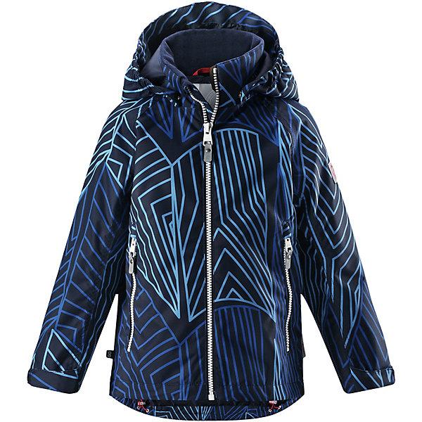 Куртка Schiff  Reimatec® ReimaВерхняя одежда<br>Характеристики товара:<br><br>• цвет: синий принт;<br>• состав: 100% полиамид, полиуретановое покрытие;<br>• подкладка: 100% полиэстер;<br>• без дополнительного утепления;<br>• сезон: демисезон;<br>• температурный режим: от +5° до +15°С;<br>• водонепроницаемость: 8000 мм;<br>• воздухопроницаемость: 7000 мм;<br>• износостойкость: 30000 циклов (тест Мартиндейла);<br>• застёжка: молния с защитой подбородка;<br>• водо- и  ветронепроницаемый, дышащий и грязеотталкивающий материал;<br>• водо- и грязеотталкивающая пропитка без содержания фторуглеродов BIONIC-FINISH®ECO;<br>• основные швы проклеены и не пропускают влагу;<br>• гладкая подкладка из полиэстера;<br>• безопасный съёмный капюшон;<br>• регулируемые манжеты и подол;<br>• карман со специальными креплениями для сенсора ReimaGO® в моделях 104 размера и более;<br>• два кармана на молнии;<br>• светоотражающие детали;<br>• страна бренда: Финляндия.<br><br>Все основные швы в этой демисезонной детской куртке Reimatec® герметично запаяны, а сама она сшита из водо- и ветронепроницаемого, грязеотталкивающего, но при этом дышащего материала. Безопасный съемный капюшон легко отстегивается, если случайно за что-нибудь зацепится, а ключи от дома будут надежно спрятаны в карманах на молнии. Благодаря регулируемым манжетам и подолу куртка хорошо прилегает к телу и не пропускает ветер.<br><br>Куртку Reima от финского бренда Reima (Рейма) можно купить в нашем интернет-магазине.<br>Ширина мм: 356; Глубина мм: 10; Высота мм: 245; Вес г: 519; Цвет: синий; Возраст от месяцев: 132; Возраст до месяцев: 144; Пол: Унисекс; Возраст: Детский; Размер: 134,128,122,116,152,146,140,110,104; SKU: 7636732;
