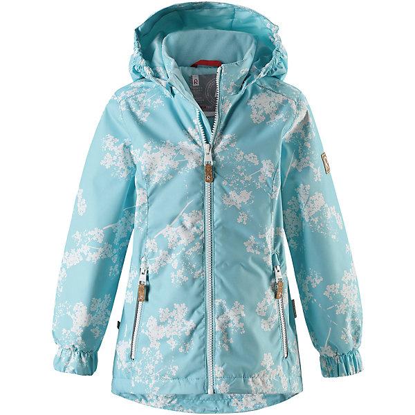 Куртка Anise Reima для девочкиОдежда<br>Характеристики товара:<br><br>• цвет: голубой принт;<br>• состав: 100% полиамид, полиуретановое покрытие;<br>• подкладка: 100% полиэстер;<br>• лёгкая степень утепления;<br>• сезон: демисезон;<br>• температурный режим: от +5° до +15°С;<br>• водонепроницаемость: 8000 мм;<br>• воздухопроницаемость: 7000 мм;<br>• износостойкость: 30000 циклов (тест Мартиндейла);<br>• застёжка: молния с защитой подбородка;<br>• водо- и  ветронепроницаемый, дышащий и грязеотталкивающий материал;<br>• водо- и грязеотталкивающая пропитка без содержания фторуглеродов BIONIC-FINISH®ECO;<br>• основные швы проклеены и не пропускают влагу;<br>• гладкая подкладка из полиэстера;<br>• безопасный съёмный капюшон;<br>• регулируемый обхват талии и подол;<br>• карман с креплениями для сенсора ReimaGO®;<br>• два кармана на молнии;<br>• светоотражающие детали;<br>• страна бренда: Финляндия.<br><br>Красивая, удлиненная демисезонная куртка для детей эффективно защищает от ветра. Дышащий материал также является водо- и грязеотталкивающим, а основные швы данной куртки проклеены для создания водонепроницаемости. Гладкая подкладка из полиэстера облегчает одевание и превращает его в веселый процесс. Отстегивающийся капюшон и светоотражающие детали обеспечивают безопасность во время прогулок в поисках впечатлений, а карманы с клапанами идеально подходят для хранения маленьких ценностей.<br><br>Куртку Reima от финского бренда Reima (Рейма) можно купить в нашем интернет-магазине.<br>Ширина мм: 356; Глубина мм: 10; Высота мм: 245; Вес г: 519; Цвет: зеленый; Возраст от месяцев: 36; Возраст до месяцев: 48; Пол: Женский; Возраст: Детский; Размер: 104,98,92,140,134,128,122,116,110; SKU: 7636798;