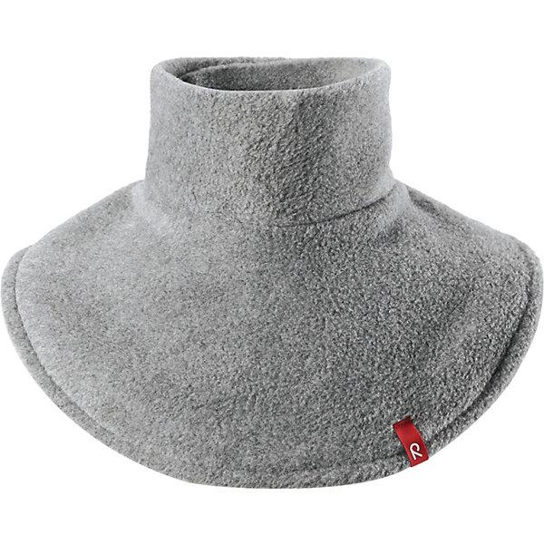 Флисовая горловина Dollart ReimaШарфы, платки<br>Флисовая горловина Reima <br>Эта флисовая горловина для малышей и детей постарше сделает любую демисезонную и зимнюю верхнюю одежду теплее и уютнее. Теплый флис – мягкий и приятный на ощупь, а застежка-липучка сзади облегчает надевание и не дает горловине сползать. Легкий, быстросохнущий, и дышащий полярный флис отводит влагу с кожи.<br>Состав:<br>100% Полиэстер<br>Ширина мм: 88; Глубина мм: 155; Высота мм: 26; Вес г: 106; Цвет: серый; Возраст от месяцев: 12; Возраст до месяцев: 84; Пол: Унисекс; Возраст: Детский; Размер: one size; SKU: 7636840;