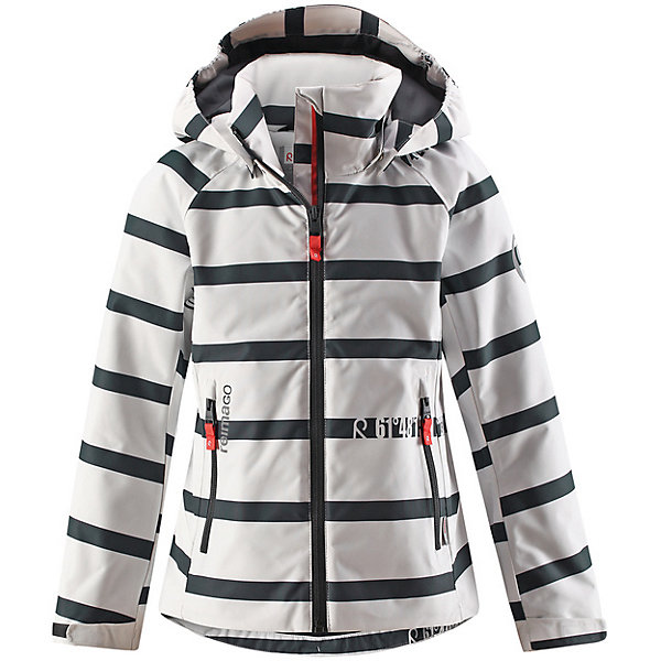 Куртка Fresia Reima для девочкиВерхняя одежда<br>Характеристики товара:<br><br>• цвет: бело-синий в полоску;<br>• состав: 100% полиамид, полиуретановое покрытие;<br>• подкладка: 100% полиэстер;<br>• без дополнительного утепления;<br>• сезон: демисезон;<br>• температурный режим: от +5° до +15°С;<br>• водонепроницаемость: 15000 мм;<br>• воздухопроницаемость: 7000 мм;<br>• износостойкость: 40000 циклов (тест Мартиндейла);<br>• застёжка: молния с защитой подбородка;<br>• водо- и  ветронепроницаемый, дышащий и грязеотталкивающий материал;<br>• водо- и грязеотталкивающая пропитка без содержания фторуглеродов BIONIC-FINISH®ECO;<br>• все швы проклеены и не пропускают влагу;<br>• гладкая подкладка из полиэстера;<br>• безопасный съёмный и регулируемый капюшон;<br>• регулируемые манжеты;<br>• регулируемый подол;<br>• карман с креплениями для сенсора ReimaGO®;<br>• два кармана на молнии;<br>• светоотражающие детали;<br>• страна бренда: Финляндия.<br><br>Эта спортивная демисезонная куртка для подростков очень удобная и практичная – куда ни надень! Она изготовлена из абсолютно непромокаемого материала с проклеенными швами, поэтому обеспечивает надежную защиту в любую погоду. Благодаря грязеотталкивающей поверхности эта ветронепроницаемая демисезонная куртка очень простая в уходе. <br><br>Съемный капюшон защищает от пронизывающего ветра, к тому же он абсолютно безопасен во время активных прогулок, поскольку легко отстегнется, если вдруг за что-нибудь зацепится. Подол и манжеты регулируются, что позволяет подогнать эту куртку для девочек идеально по фигуре.<br><br>Куртку Reima от финского бренда Reima (Рейма) можно купить в нашем интернет-магазине.<br>Ширина мм: 356; Глубина мм: 10; Высота мм: 245; Вес г: 519; Цвет: белый; Возраст от месяцев: 144; Возраст до месяцев: 156; Пол: Женский; Возраст: Детский; Размер: 158,164,122,128,134,140,146,152; SKU: 7636842;