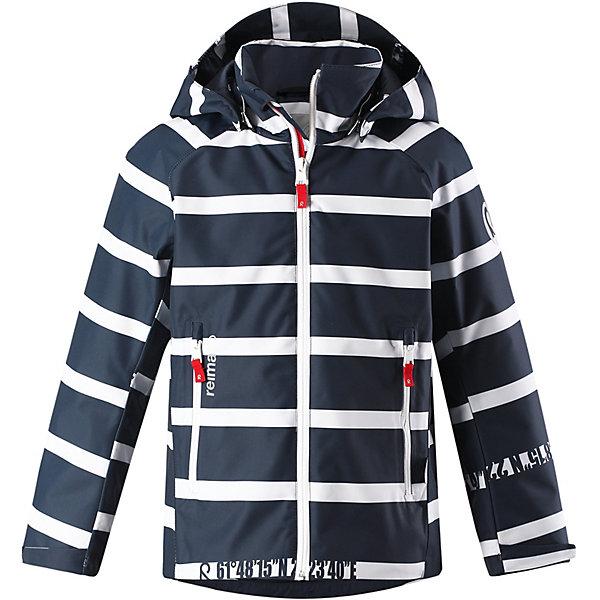 Куртка Fountain Reimatec® Reima для мальчикаДемисезонные куртки<br>Характеристики товара:<br><br>• цвет: синий в полоску;<br>• состав: 100% полиамид, полиуретановое покрытие;<br>• подкладка: 100% полиэстер;<br>• без дополнительного утепления;<br>• сезон: демисезон;<br>• температурный режим: от +5° до +15°С;<br>• водонепроницаемость: 15000 мм;<br>• воздухопроницаемость: 7000 мм;<br>• износостойкость: 40000 циклов (тест Мартиндейла);<br>• застёжка: молния с защитой подбородка;<br>• ветронепроницаемый «дышащий» материал;<br>• водо- и грязеотталкивающая пропитка без содержания фторуглеродов BIONIC-FINISH®ECO;<br>• все швы проклеены и не пропускают влагу;<br>• гладкая подкладка из полиэстера;<br>• безопасный съёмный и регулируемый капюшон;<br>• регулируемые манжеты;<br>• регулируемый подол;<br>• карман с креплениями для сенсора ReimaGO®;<br>• два кармана на молнии;<br>• светоотражающие детали;<br>• страна бренда: Финляндия.<br><br>Эта спортивная демисезонная куртка для подростков очень удобная и практичная – куда ни надень! Она изготовлена из абсолютно непромокаемого материала с проклеенными швами, поэтому обеспечивает надежную защиту в любую погоду. Благодаря грязеотталкивающей поверхности эта ветронепроницаемая демисезонная куртка очень простая в уходе. <br><br>Съемный капюшон защищает от пронизывающего ветра, к тому же он абсолютно безопасен во время активных прогулок, поскольку легко отстегнется, если вдруг за что-нибудь зацепится. Подол и манжеты регулируются, что позволяет подогнать куртку идеально по фигуре.<br><br>Куртку Reima от финского бренда Reima (Рейма) можно купить в нашем интернет-магазине.<br>Ширина мм: 356; Глубина мм: 10; Высота мм: 245; Вес г: 519; Цвет: синий; Возраст от месяцев: 96; Возраст до месяцев: 108; Пол: Мужской; Возраст: Детский; Размер: 134,122,116,110,104,128,164,158,152,146,140; SKU: 7636860;