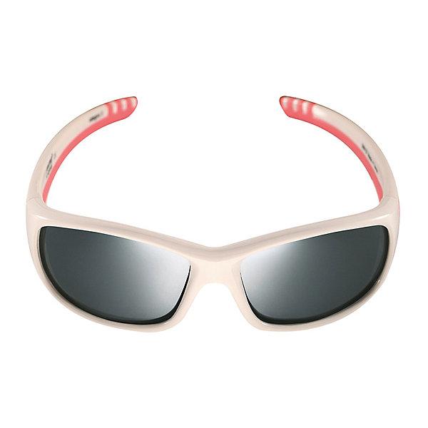 Солнцезащитные очки Sereno ReimaАксессуары<br>Солнцезащитные очки Reima <br>Стильные детские солнцезащитные очки с эффективной защитой от вредного ультрафиолета: линзы обеспечивают комплексную защиту от УФА и УФВ лучей, а сами очки сертифицированы по стандартам ЕС. Поляризованные зеркальные линзы улучшают видимость за счет блокирования бликов, особенно когда вокруг много снега или воды. Модный дизайн подойдет на все случаи жизни – веселые расцветки отлично сочетаются с разной одеждой. Очки поставляются в комплекте с удобным чехлом для защиты и хранения.<br>Состав:<br>Оправа: TPEE/TPR/TR90/Резина, линзы PC<br>Ширина мм: 170; Глубина мм: 157; Высота мм: 67; Вес г: 117; Цвет: белый; Возраст от месяцев: 48; Возраст до месяцев: 168; Пол: Унисекс; Возраст: Детский; Размер: one size; SKU: 7636908;