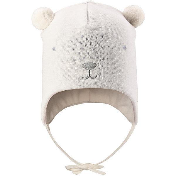 Шапка LassieШапки и шарфы<br>Шапка Lassie <br>Очаровательная шапка для малышей! Она изготовлена из очень удобного эластичного материала на подкладке из гладкого хлопкового джерси. Ветронепроницаемые вставки в области ушей обеспечат тепло и уют в ветреную погоду, а завязки не дадут шапке сползать.<br>Состав:<br>100% Хлопок<br>Ширина мм: 89; Глубина мм: 117; Высота мм: 44; Вес г: 155; Цвет: белый; Возраст от месяцев: 12; Возраст до месяцев: 24; Пол: Унисекс; Возраст: Детский; Размер: 48,52,50; SKU: 7636964;