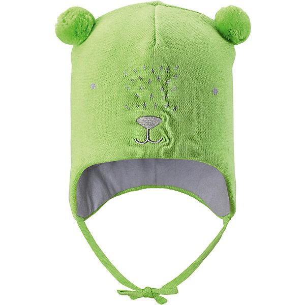 Шапка LassieШапки и шарфы<br>Шапка Lassie <br>Очаровательная шапка для малышей! Она изготовлена из очень удобного эластичного материала на подкладке из гладкого хлопкового джерси. Ветронепроницаемые вставки в области ушей обеспечат тепло и уют в ветреную погоду, а завязки не дадут шапке сползать.<br>Состав:<br>100% Хлопок<br>Ширина мм: 89; Глубина мм: 117; Высота мм: 44; Вес г: 155; Цвет: зеленый; Возраст от месяцев: 72; Возраст до месяцев: 144; Пол: Унисекс; Возраст: Детский; Размер: 50-52,46-48,44-46; SKU: 7636968;