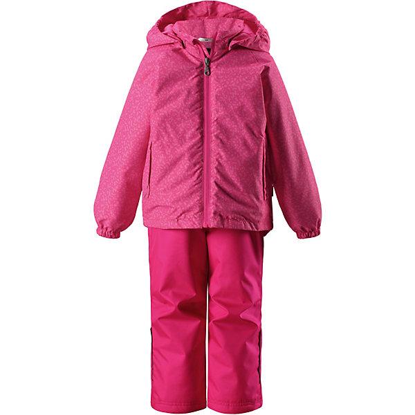 Комплект LassieВерхняя одежда<br>Комплект Lassie <br>Этот прочный детский демисезонный комплект на легком утеплителе станет идеальным выбором для игр на свежем воздухе. Водоотталкивающий и ветронепроницаемый материал хорошо пропускает воздух, так что в этой куртке не вспотеешь. Куртка снабжена безопасным съемным капюшоном и прочными усилениями на спинке. Эластичный регулируемый подол позволяет подогнать куртку идеально по фигуре. Красивая и гладкая подкладка из полиэстера хорошо пропускает воздух и облегчает одевание. В куртке предусмотрены прорезные карманы, а в брюках — один карман. Брюки снабжены регулируемыми манжетами и съемными эластичными подтяжками, поэтому отлично сидят. Этот практичный комплект позволяет детям быть активными при любой погоде!<br>Состав:<br>100% Полиэстер, полиуретановое покрытие<br>Ширина мм: 356; Глубина мм: 10; Высота мм: 245; Вес г: 519; Цвет: розовый; Возраст от месяцев: 18; Возраст до месяцев: 24; Пол: Унисекс; Возраст: Детский; Размер: 92,140,134,128,122,116,110,104,98; SKU: 7637156;