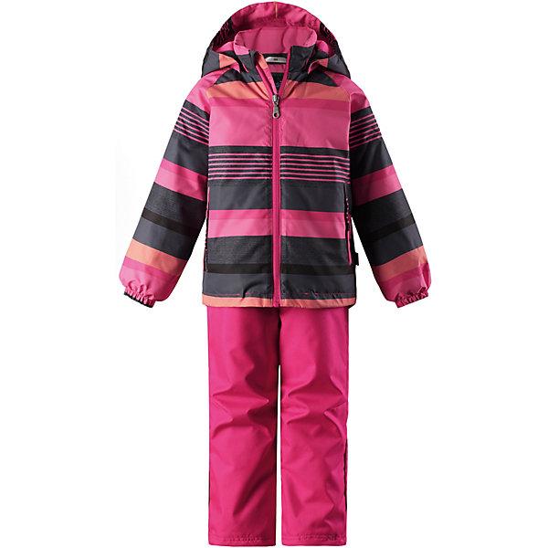 Комплект LassieВерхняя одежда<br>Комплект Lassie <br>Этот прочный детский демисезонный комплект на легком утеплителе станет идеальным выбором для игр на свежем воздухе. Водоотталкивающий и ветронепроницаемый материал хорошо пропускает воздух, так что в этой куртке не вспотеешь. Куртка снабжена безопасным съемным капюшоном и прочными усилениями на спинке. Эластичный регулируемый подол позволяет подогнать куртку идеально по фигуре. Красивая и гладкая подкладка из полиэстера хорошо пропускает воздух и облегчает одевание. В куртке предусмотрены прорезные карманы, а в брюках — один карман. Брюки снабжены регулируемыми манжетами и съемными эластичными подтяжками, поэтому отлично сидят. Этот практичный комплект позволяет детям быть активными при любой погоде!<br>Состав:<br>100% Полиэстер, полиуретановое покрытие<br>Ширина мм: 356; Глубина мм: 10; Высота мм: 245; Вес г: 519; Цвет: розовый; Возраст от месяцев: 108; Возраст до месяцев: 120; Пол: Унисекс; Возраст: Детский; Размер: 140,92,98,104,110,116,122,128,134; SKU: 7637166;
