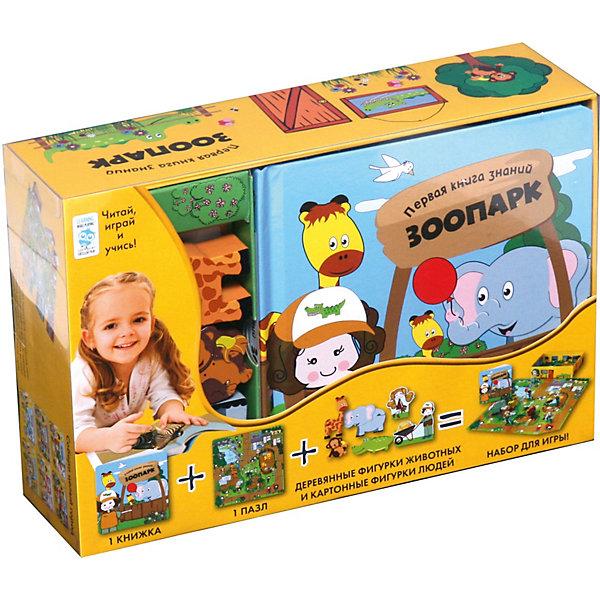 Первая книга знаний Зоопарк + набор игры, Махаон, Гонконг, Унисекс  - купить со скидкой