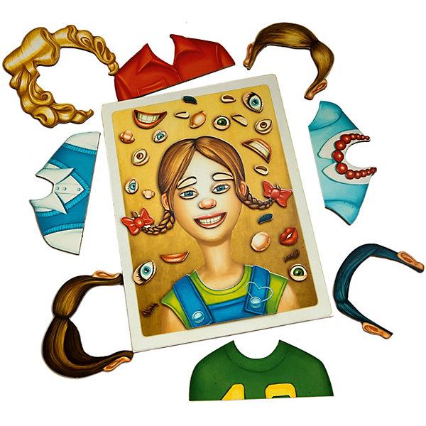 Магнитный конструктор  Веселые шаржи, Mr. BigzyОбучающие игры для дошкольников<br>Характеристики:<br>• возраст: от 2 лет;<br>• материал: дерево;<br>• вид игры: магнитная;<br>• можно брать в дорогу;<br>• количество игроков: 1-2;<br>• размер упаковки: 20х30х3 см;<br>• вес: 600гр.;<br>• страна бренда: Россия<br>В набор входят следующие детали:<br>• магнитная основа – овал лица в рамке (силуэт, на котором отсутствуют глаза, нос, губы, волосы, одежда);<br>• 82 дополнительных элемента на магнитах, предназначенных для создания лица (нос, губы, глаза, волосы, борода, брови, очки, усы и одежда).<br>Игра Веселые шаржи – это комплект, с помощью которого можно создать множество различных персонажей. Ребенку предлагается поэкспериментировать с овалом лица, дополнив его всеми необходимыми деталями, включая глаза, нос, губы, волосы и одежду.<br>С помощью «Веселых шаржей» малыши от 2 до 5 лет развивают мелкую моторику. Игра стимулирует познавательную активность, расширяет детский кругозор, позволяет научиться проявлять фантазию. Она помогает изучить эмоции человека, передаваемые мимикой придуманного персонажа. Играя, ребенку можно объяснить сложнейшие абстракции – настроение человека: радость, восторг, задумчивость, грусть.<br>Дети в возрасте от 5 до 10 лет с удовольствием играют в «Веселые шаржи» без помощи взрослых с другими детками. Именно поэтому игра является идеальным инструментом для развития самостоятельности школьников, она помогает выявить у ребенка лидерские качества и своевременно оказать помощь в их воспитании.<br>Магнитный конструктор Веселые шаржи, Mr. Bigzy можно купить в нашем интернет-магазине.<br>Ширина мм: 300; Глубина мм: 215; Высота мм: 150; Вес г: 850; Возраст от месяцев: 36; Возраст до месяцев: 1188; Пол: Унисекс; Возраст: Детский; SKU: 7677118;