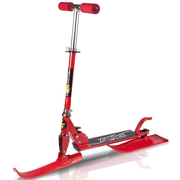 Самокат-снегоход Zilmer, Zl-80, красныйСнегокаты<br>Характеристики:<br><br>• самокат-снегоход 2в1;<br>• складная конструкция;<br>• регулируемая высота руля;<br>• складные ручки руля;<br>• ножной тормоз, материал – сталь;<br>• диаметр колес: 12 см;<br>• размер лыж: 37х6 см (передняя) и 42х11 см (задняя);<br>• максимальная нагрузка: до 50 кг;<br>• материал: алюминий, пластик, резина, полиуретан;<br>• размер самоката: 61,5х9,5х80 см;<br>• размер упаковки: 61х16х14 см;<br>• вес: 2 кг. <br><br>Транспортное средство 2в1 для летних игр и зимних забав. Снегокат с полозьями и 2-х колесный самокат – ребенок в движении круглый год. Самокат поможет ребёнку не только весело провести время, но и развить координаци. и физическую форму.<br><br>Комплектация:<br><br>• самокат-снегоход;<br>• лыжи х 2 шт.;<br>• колёса х 2 шт.;<br>• болты для крепления колёс/лыж;<br>• ключи для сборки;<br>• инструкция.<br><br>Самокат-снегоход Zilmer, «Zl-80», красный можно купить в нашем интернет-магазине<br>Ширина мм: 620; Глубина мм: 160; Высота мм: 140; Вес г: 2000; Цвет: красный; Возраст от месяцев: 48; Возраст до месяцев: 2147483647; Пол: Унисекс; Возраст: Детский; SKU: 7682294;
