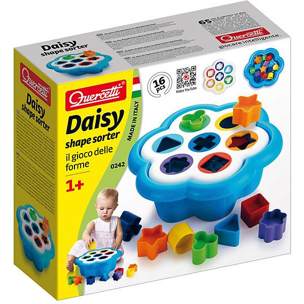 Сортер Quercetti Фантастические ЦветаРазвивающие игрушки<br>Характеристики товара:<br><br>• возраст: от 1 года;<br>• в комплекте: по 2 фишки в форме звезды, квадрата, цветка, треугольника, круга, крестика, трилистника, игровое поле и ведро в фооме цветка;<br>• материал: пластик;<br>• размер упаковки: 31х13х33 см;<br>• вес упаковки: 1600 гр.;<br>• страна бренда: Италия.<br><br>Сортер Quercetti Фантастические Цвета  будет стимулировать и зрительное восприятие и зрительно-моторную координацию, а также двигательные навыки и ловкость рук. Созданный из мягкого и безопасного материала большой округлой формы, сортировщик «Фантастические цвета» был специально разработан для малышей.<br><br>В комплект входит большой ведро в форме цветочка, в котором удобно хранить все элементы.<br><br>Сортер Quercetti Фантастические Цвета можно купить в нашем интернет-магазине.<br>Ширина мм: 330; Глубина мм: 310; Высота мм: 130; Вес г: 1051; Возраст от месяцев: 12; Возраст до месяцев: 24; Пол: Унисекс; Возраст: Детский; SKU: 7683708;