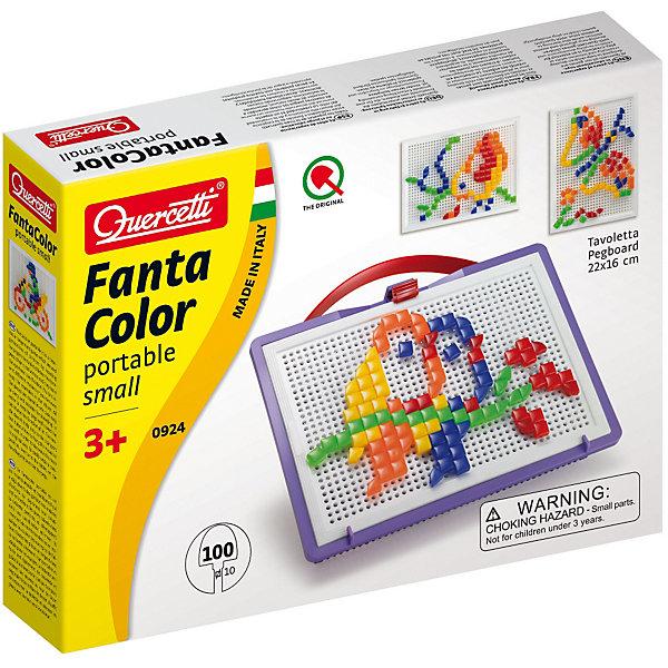 Мозаика Quercetti Фантастические цвета , 100 деталей, треугольные и квадратные, Италия, Унисекс  - купить со скидкой