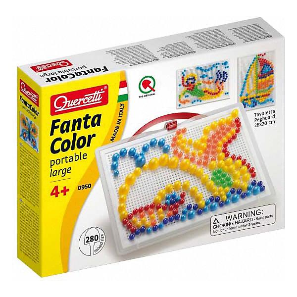 Мозаика Quercetti Фантастические цвета, 280 деталейОбучающие игры<br>Характеристики товара:<br><br>• возраст: от 3 лет;<br>• в комплекте: доска, 280 фишек, кейс для хранения;<br>• материал: пластик;<br>• размер упаковки: 24х32х6 см;<br>• вес упаковки: 710 гр.;<br>• страна бренда: Италия.<br><br>Мозаика Quercetti Фантастические цвета – это отличный способ увлекательно провести досуг, снять стресс и развить моторику.<br><br>Элементы изготовлены из безопасного качественного пластика. Специальные детальки-пуговки представлены в 6 цветах.<br><br>Мозаика Quercetti Фантастические цвета можно купить в нашем интернет-магазине.<br>Ширина мм: 360; Глубина мм: 280; Высота мм: 50; Вес г: 770; Возраст от месяцев: 48; Возраст до месяцев: 72; Пол: Унисекс; Возраст: Детский; SKU: 7683718;