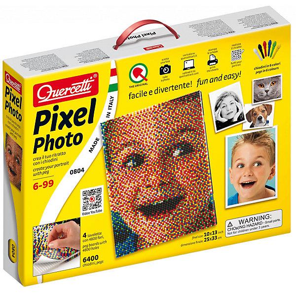 Пиксельная мозаика Quercetti, Фото, 6400 деталейМозаика<br>Характеристики товара:<br><br>• возраст: от 6 лет;<br>• в комплекте: 4 платы, 6400 деталей 6 цветов, панель, инструкция;<br>• материал: пластик;<br>• размер упаковки: 40х30х3 см;<br>• вес упаковки: 1295 гр.;<br>• страна бренда: Италия.<br><br>Пиксельная мозаика Quercetti, Фото – это отличный способ увлекательно провести досуг, снять стресс и развить моторику.<br>Элементы изготовлены из безопасного качественного пластика. <br><br>Пиксельная мозаика Quercetti, Фото можно купить в нашем интернет-магазине.<br>Ширина мм: 360; Глубина мм: 280; Высота мм: 50; Вес г: 1243; Возраст от месяцев: 72; Возраст до месяцев: 96; Пол: Унисекс; Возраст: Детский; SKU: 7683728;