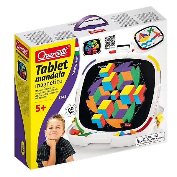 Магнитная мозаика Quercetti, Мандала, 84 деталиМозаика<br>Характеристики товара:<br><br>• возраст: от 5 лет;<br>• в комплекте: 1 магнитная доска, 84 геометрические фигуры, 1 маркер, 2 стойки, чемоданчик с ручками, альбом с примерами; <br>• материал: пластик, металл, мягкий магнит;<br>• размер упаковки: 40х34х9 см;<br>• вес упаковки: 1500 гр.;<br>• страна бренда: Италия.<br><br>Магнитная мозаика Quercetti, Мандала – станет замечательным подарком для Вашего ребенка. Подобно древнему восточному философу, ребенок сможет создавать бесконечные мандалы с яркими абстрактными фигурками. Складываясь в круги вокруг центра, они создают интересный 3D эффект, который вызовет бурю восторга у юного создателя. <br><br>Магнитная мозайка Мандала позволит расслабиться и снять стресс, а также развивает координацию движений, мелкую моторику и образное мышление.<br><br>Магнитная мозаика Quercetti, Мандала можно купить в нашем интернет-магазине.<br>Ширина мм: 400; Глубина мм: 340; Высота мм: 90; Вес г: 1370; Возраст от месяцев: 60; Возраст до месяцев: 84; Пол: Унисекс; Возраст: Детский; SKU: 7683730;
