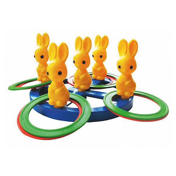 Кольцеброс Плэйдорадо ЗайчикиКольцебросы<br>Характеристики:<br><br>• тип игрушки: игровой набор;<br>• возраст: от 3 лет;<br>• комплектация: зайчики, кольца;<br>• материал: пластик;<br>• размер: 22х22х8см;<br>• вес: 170 гр;<br>• страна бренда: Россия;<br>• бренд: Плэйдорадо.<br><br>Кольцеброс Плэйдорадо «Зайчики» - игра, которая предназначена для детей от 3 лет. На прочной платформе закреплены пять зайчиков, на головы которых ребенок должен забросить 10 цветных колец. Игра тренирует глазомер и логику ребенка, а качественные материалы не способны принести вред детям. Особенность игры заключается в правильном попадании колец по зайчикам.<br><br>Кольцеброс Плэйдорадо «Зайчики» можно купить в нашем интернет-магазине.<br>Ширина мм: 220; Глубина мм: 60; Высота мм: 220; Вес г: 20; Возраст от месяцев: 36; Возраст до месяцев: 2147483647; Пол: Унисекс; Возраст: Детский; SKU: 7684026;