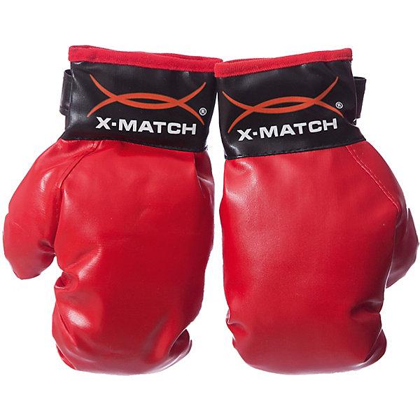 Перчатки  X-matсh для боксаГруши и перчатки<br>Характеристики:<br><br>• тип игрушки: перчатки;<br>• возраст: от 5 лет;<br>• цвет: красный;<br>• материал: текстиль;<br>• размер: 28х6х32 см;<br>• упаковка: пакет с хедером;<br>• бренд: X-Match.<br><br>Перчатки  X-matсh для бокса отлично подойдут для юного начинающего боксера. Они выполнены в черно-красном оттенке. На перчатках предусмотрена специальная липучка, благодаря которой ребенок сможет настроить размер под свои руки. С таким спортивным инвентарем ни один противник не одолеет маленького любителя мужского спорта.<br><br>Перчатки  X-matсh для бокса можно купить в нашем интернет-магазине.<br>Ширина мм: 285; Глубина мм: 70; Высота мм: 310; Вес г: 27; Возраст от месяцев: 36; Возраст до месяцев: 2147483647; Пол: Мужской; Возраст: Детский; SKU: 7684042;