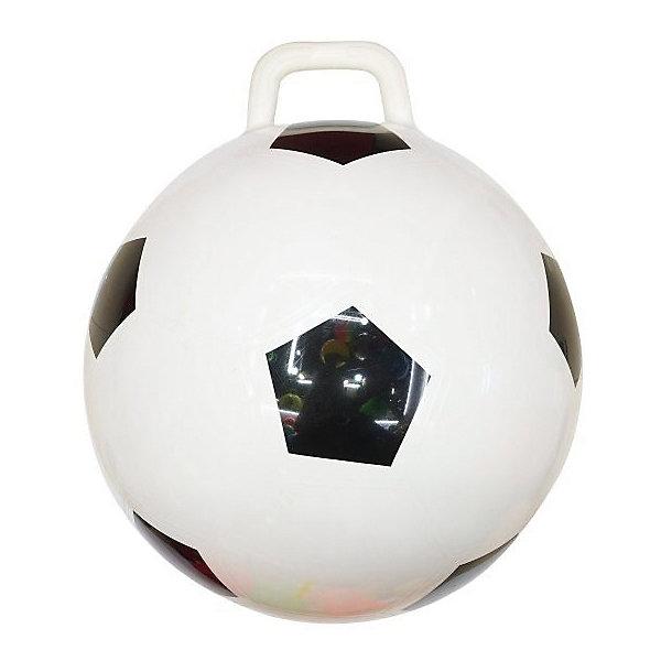 Мяч-прыгун Shantou Gepai Футбол, 50 смМячи детские<br>Характеристики:<br><br>• тип игрушки: мяч;<br>• возраст: от 3 лет;<br>• материал: резина;<br>• цвет: мультиколор;<br>• диаметр: 50 см;<br>• бренд: Shantou Gepai.<br><br>Мяч-прыгун Shantou Gepai «Футбол», 50 см - это детский вариант фитбола. Мяч имеет яркий окрас «футбольного мяча», который обязательно привлечет к себе внимание юных спортсменов. Прыгая на таком снаряде, ребенок не только весело проводит время, но и разрабатывает мышцы ног и кора, развивает умение держать равновесие. Мяч-прыгун - это не только активно проведенное время, но и отличная тренировка.<br><br>Мяч-прыгун Shantou Gepai  «Футбол», 50 см можно купить в нашем интернет-магазине.<br>Ширина мм: 150; Глубина мм: 30; Высота мм: 80; Вес г: 48; Возраст от месяцев: 36; Возраст до месяцев: 2147483647; Пол: Унисекс; Возраст: Детский; SKU: 7684066;