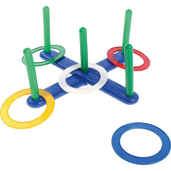Игра Строим вместе  КольцебросКольцебросы<br>Характеристики:<br><br>• тип игрушки: игровой набор;<br>• возраст: от 3 лет;<br>• комплектация: мишень, 5 колышков, 5 колец;<br>• материал: пластик;<br>• размер: 37х28х5,5 см;<br>• вес: 320 гр;<br>• бренд: Строим вместе.<br><br>Игра Строим вместе  «Кольцеброс» позволит ребенку весело провести время с друзьями, соревнуясь в ловкости. Набор включает в себя мишень-крестовину, пять, колышков и пять колец разных цветов. Колышки вставляются в мишень. Задача ребенка состоит в том, чтобы с определенного расстояния бросить кольцо и попасть на колышек. <br><br>На мишени указаны цифры, таким образом можно вести подсчет очков за попадания. «Кольцеброс» -  увлекательная игра, в которую можно играть, как дома, так и на свежем воздухе. Она поможет ребенку развить меткость, ловкость и координацию движений. <br><br>Игру Строим вместе  «Кольцеброс» можно купить в нашем интернет-магазине.<br>Ширина мм: 275; Глубина мм: 55; Высота мм: 380; Вес г: 40; Возраст от месяцев: 36; Возраст до месяцев: 2147483647; Пол: Унисекс; Возраст: Детский; SKU: 7684080;
