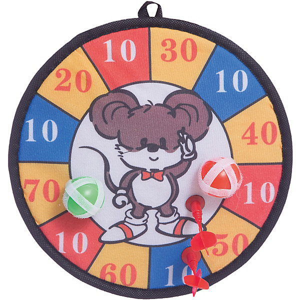 Дартс  Shantou Gepai Мышонок  с липучкойИгровые наборы<br>Характеристики:<br><br>• тип игрушки: дартс;<br>• возраст: от 3 лет;<br>• комплектация: дротики, мишень;<br>• материал: пластик, текстиль;<br>• размер: 36х3,5х35 см;<br>• бренд: Shantou Gepai.<br><br>Дартс  Shantou Gepai «Мышонок» с липучкой - веселая и совершенно безопасная игра для детей всех возрастов и, конечно же, взрослых. В этот замечательный дартс можно играть на даче, на пляже и даже дома. Мишенью в этом дартсе является милый мышонок. Этот дартс абсолютно безопасен для детей, потому что вместо иглы на дротиках прикреплены липучки. Таким образом, ребенок на поцарапается и не уколется.<br><br>Задача игроков - попасть дротиками по мишени, так чтобы они попали ближе к центру мишени, и заработать максимальное количество очков.Дротики держаться на мишени с помощью магнитов, расположенных на концах дротиков и внутри мишени. Игра способствует развитию глазомера, меткости, ловкости и координации движений.<br><br>Дартс  Shantou Gepai «Мышонок» с липучкой  можно купить в нашем интернет-магазине.<br>Ширина мм: 360; Глубина мм: 35; Высота мм: 350; Вес г: 6; Возраст от месяцев: 36; Возраст до месяцев: 2147483647; Пол: Унисекс; Возраст: Детский; SKU: 7684088;