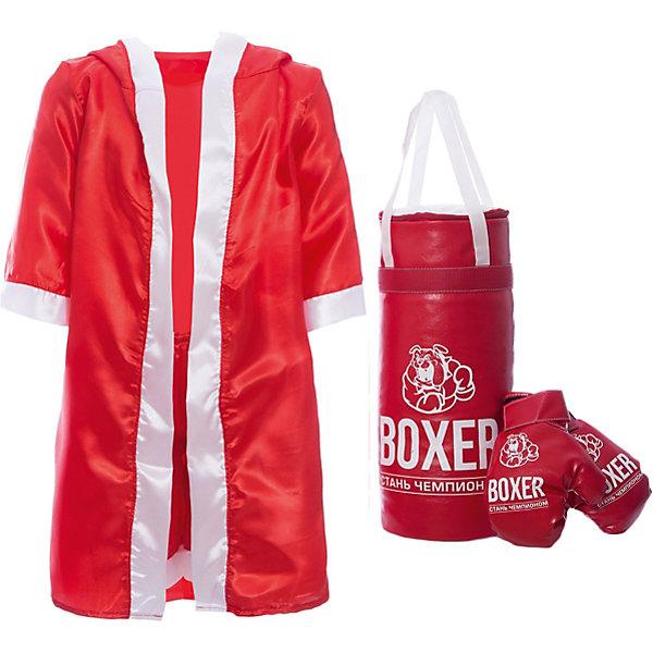 Игровой набор для бокса Боксер  №3, в подарочной упаковке, 50 см, в ассортиментеГруши и перчатки<br>Характеристики:<br><br>• тип игрушки: игровой набор;<br>• возраст: от 3 лет;<br>• комплектация: боксерская груша, перчатки, накидка, шорты;<br>• размер груши: 50 см;<br>• материал: наполнитель, текстиль;<br>• размер: 27х24х52 см;<br>• вес: 630  гр;<br>• упаковка: картонная коробка;<br>• страна бренда: Россия;<br>• бренд: Лидер.<br><br>Игровой набор для бокса «Боксер №3», 50 см сможет понравиться каждому любителю настоящего мужского спорта. В комплект входят перчатки для защиты рук, боксерская груша для тренировки удара, боксерские шорты и накидка для яркого выхода на ринг. Отрабатывая удары и тренируя свое тело, каждый мальчишка сможет приобщиться к правильному образу жизни и укрепить свое здоровье.<br><br>Такой набор сможет помочь познать азы боксерского искусства и направит юного спортсмена на правильный путь, ведущий к чемпионским титулам и большим победам.<br><br>Игровой набор для бокса «Боксер №3», 50 см  можно купить в нашем интернет-магазине.<br>Ширина мм: 270; Глубина мм: 240; Высота мм: 520; Вес г: 630; Возраст от месяцев: 36; Возраст до месяцев: 2147483647; Пол: Мужской; Возраст: Детский; SKU: 7684118;