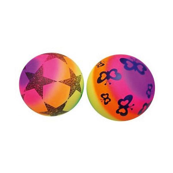 Мяч Shantou Gepai Радужный, 22 см,  ассортиментеМячи детские<br>Характеристики:<br><br>• тип игрушки: мяч;<br>• возраст: от 3 лет;<br>• материал: резина;<br>• цвет: мультиколор;<br>• диаметр: 22 см;<br>• бренд: Shantou Gepai.<br><br>Мяч Shantou Gepai «Радужный», 22 см - это одна из наиболее распространенных и любимых игрушек среди маленьких детей. Основное преимущество мячей - их форма и отсутствие острых углов и краев. Благодаря яркой расцветке, мячик сложно не заметить и потерять, и поэтому он будет всегда под рукой. <br><br>Мячом удобно пользоваться благодаря его диаметру и материалу из высококачественной и упругой резины. При помощи такого мячика дети могут играть во множество увлекательных игр: выбивалы, игру шанс или детский волейбол.<br><br>Мяч Shantou Gepai «Радужный», 22 см можно купить в нашем интернет-магазине.<br>Ширина мм: 130; Глубина мм: 20; Высота мм: 200; Вес г: 9; Возраст от месяцев: 36; Возраст до месяцев: 2147483647; Пол: Унисекс; Возраст: Детский; SKU: 7684120;