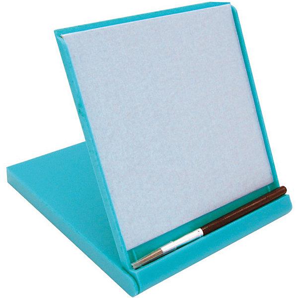 Планшет для рисования водой Акваборд мини, голубойПланшеты для рисования<br>Характеристики:<br><br>• набор для развития творческих способностей;<br>• планшет имеет специальную поверхность для рисования водой;<br>• процесс работы: достаточно просто водить кисточкой по планшету;<br>• для рисования используется чистая вода;<br>• не остается разводов и следов как в случае с краской;<br>• вода испаряется через несколько минут – чистая поверхность вновь готова для нанесения рисунков и четких линий;<br>• внутренняя сторона планшета находится в специальной пластиковой коробочке с углублением для кисти;<br>• в раскрытом виде устойчиво стоит на подставке;<br>• мини-чемоданчик удобно взять с собой в путешествие;<br>• материал: пластик, водоустойчивая поверхность;<br>• размер планшета: 15х13 см;<br>• размер упаковки: 16х14х2 см;<br>• вес: 145 г.<br><br>Планшет для рисования водой открывает перед ребенком горизонты для развития творческих навыков. Планшет оснащен специальной поверхностью, на которой кистью наносятся рисунки. Для рисования используется простая вода. Вы просто рисуете водой, и Ваше творение оживает в четких линиях. По мере того как вода медленно испаряется, Ваше сознание очищается, оставляя Вас наедине с чистым листом и ясным сознанием. В процессе обучения развивается фантазия, образное мышление, творческий потенциал ребенка. <br><br>Планшет для рисования водой Назад к истокам «Акваборд мини», голубой можно купить в нашем интернет-магазине.<br>Ширина мм: 155; Глубина мм: 135; Высота мм: 10; Вес г: 200; Цвет: голубой; Возраст от месяцев: 36; Возраст до месяцев: 2147483647; Пол: Унисекс; Возраст: Детский; SKU: 7684373;