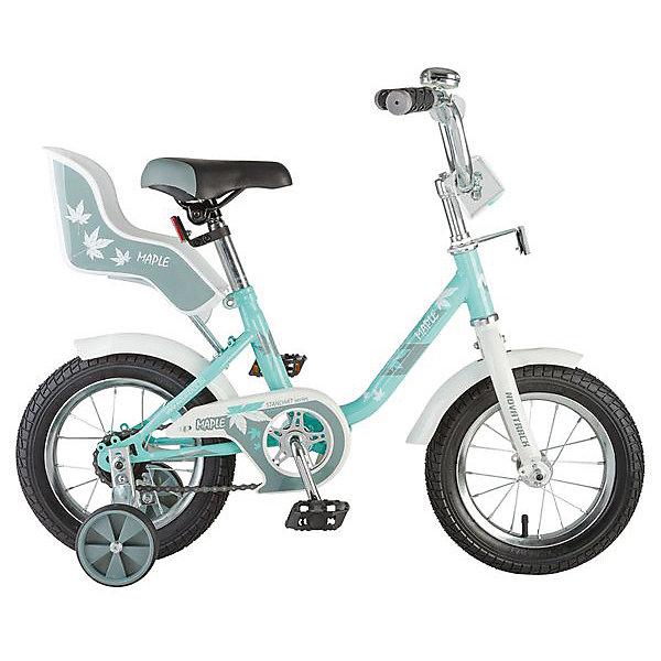 Велосипед Novatrack 12 UL, зелёный, сидение для куклыВелосипеды детские<br>Характеристики товара:<br><br>• возраст: от 2 лет;<br>• материал рамы: сталь;<br>• материал крыльев: сталь;<br>• диаметр колес: 12 дюймов;<br>• тип колес: резиновые;<br>• ножной тормоз;<br>• жесткая вилка;<br>• сидение для куклы;<br>• регулировка высоты сидения и руля;<br>• вес велосипеда: 8,2 кг;<br>• размер упаковки: 81х41х18,5 см;<br>• вес упаковки: 9,5 кг;<br>• страна бренда: Россия.<br><br>Велосипед Novatrack UL 12 зеленый — необычный велосипед для девочек, на котором имеется сидение для куклы. Теперь любимую куколку можно брать с собой на прогулку. Велосипед подойдет для малышей от 2 лет. Специально для самых юных любителей катания на велосипеде предусмотрены 2 маленьких съемных колеса, которые придают ему дополнительной устойчивости. Такая конструкция позволит детям обучаться катанию и сохранять равновесие. <br><br>Руль и сидение регулируются по высоте, адаптируясь под рост ребенка. На ручках руля имеются нескользящие грипсы, обеспечивающие хороший захват и препятствующие соскальзыванию ладоней во время езды. Для безопасного катания предусмотрен ножной тормоз и ограничитель руля, который не даст ребенку сделать слишком крутой поворот и защитит от опрокидывания. На цепи расположена защита, препятствующая попаданию ноги или одежды в механизм.<br><br>Велосипед Novatrack UL 12 зеленый можно приобрести в нашем интернет-магазине.<br>Ширина мм: 810; Глубина мм: 185; Высота мм: 410; Вес г: 9500; Цвет: зеленый; Возраст от месяцев: 24; Возраст до месяцев: 48; Пол: Женский; Возраст: Детский; SKU: 7684644;
