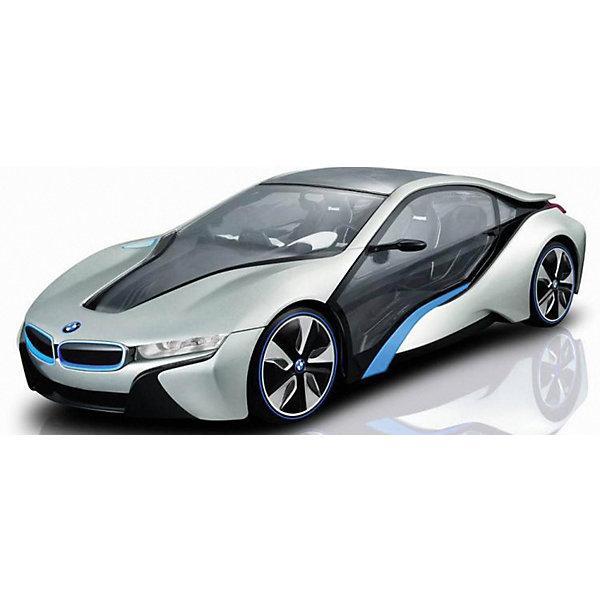 Радиоуправляемая машинка Rastar BMW i8, 1:14, серебрянаяРадиоуправляемые машины<br>Характеристики:<br><br>• радиоуправляемая машинка;<br>• масштаб: 1:14;<br>• модель машины: BMW i8;<br>• цвет: серебряный;<br>• световые эффекты;<br>• дистанционный пульт в виде руля;<br>• радиус действия пульта: до 30 метров;<br>• направление движения: влево-вправо, вперед-назад;<br>• амортизация;<br>• тип батареек: 5 х АА/ 1 х Крона;<br>• батарейки приобретаются отдельно;<br>• материал: металл;<br>• размер упаковки: 25х25х45 см;<br>• вес машинки: 680 г;<br>• вес: 1165 г.<br><br>Радиоуправляемая машинка BMW i8 в металлическом корпусе имеет хорошую амортизацию, поэтому можно устраивать гонки не только дома, но и на улице. Машинка оснащена световыми эффектами. Пульт управления представлен в виде руля с функциональными кнопками и антенной. В процессе игры совершенствуются навыки управления машинкой, ребенок учится маневрировать и легко входить в поворот. <br><br>Радиоуправляемая машинка Rastar «BMW i8», 1:14, серебряная можно купить в нашем интернет-магазине.<br>Ширина мм: 430; Глубина мм: 225; Высота мм: 175; Вес г: 1200; Цвет: серебряный; Возраст от месяцев: 36; Возраст до месяцев: 180; Пол: Мужской; Возраст: Детский; SKU: 7685572;