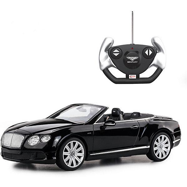 Радиоуправляемая машинка Rastar Bentley Continetal GT , 1:12, чернаяРадиоуправляемые машины<br>Характеристики:<br><br>• радиоуправляемая машинка;<br>• масштаб: 1:12;<br>• модель машины: Bentley Continetal GT;<br>• цвет: черный:<br>• проработка деталей;<br>• световые эффекты;<br>• дистанционный пульт в виде руля;<br>• работа пульта на частоте 40 MHz;<br>• радиус действия пульта: до 30 метров;<br>• направление движения: влево-вправо, вперед-назад, полная остановка;<br>• тип батареек: 5 х АА + 1 Крона х 9V типа 6F22;<br>• батарейки приобретаются отдельно;<br>• материал: металл;<br>• размер упаковки: 50,5х20,5х22,5 см;<br>• длина модели: 36 см;<br>• вес: 1460 г.<br><br>Радиоуправляемая машинка Bentley Continetal GT в металлическом корпусе выполнена в спортивном стиле. Черный классический цвет придает модели деловой вид. Машинка с открытым верхом позволяет рассмотреть устройство салона, панель управления, качество проработки мелких деталей. Машинка изготовлена в полном соответствии с моделью-прототипом, уменьшена и детализирована в масштабе 1:12.  <br><br>Радиоуправляемая машинка Rastar «Bentley Continetal GT», 1:12, черная можно купить в нашем интернет-магазине.<br>Ширина мм: 500; Глубина мм: 220; Высота мм: 205; Вес г: 1048; Цвет: черный; Возраст от месяцев: 36; Возраст до месяцев: 180; Пол: Мужской; Возраст: Детский; SKU: 7685576;