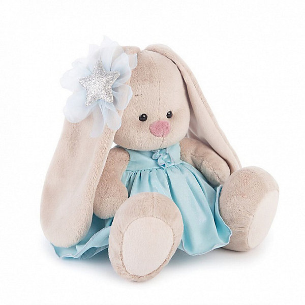 Мягкая игрушка Budi Basa Зайка Ми в голубом платье со звездой, 18 смМягкие игрушки животные<br>Характеристики:<br><br>• возраст: 3+;<br>• цвет: бежевый; <br>• высота игрушки: 18 см;<br>• материал: искусственный мех, текстиль, пластик;<br>• габариты упаковки: 15х14х15 см;<br>• тип упаковки: картонная коробка открытого типа;<br>• вес в упаковке: 270 г.<br><br>Зайка Ми – озорной зайчонок с милыми глазками. Милый зайка выполнен из искусственного меха натуральных цветов. Материал очень нежный и приятный на ощупь. Благодаря комбинированной набивке, игрушку удобно держать в руках, играть и спать с ней.<br><br>Зайка в голубом платье со звездой на голове в тон наряда имеет свой неповторимый стиль. <br><br>Симпатичная игрушка обязательно порадует не только малышей, но и взрослых. Мягкий зайчонок в фирменной упаковке – хороший подарок к празднику.<br><br>Мягкую игрушку «Зайка Ми в голубом платье со звездой, 18 см», Budi Basa можно приобрести в нашем интернет-магазине.<br>Ширина мм: 150; Глубина мм: 140; Высота мм: 150; Вес г: 270; Цвет: бежевый; Возраст от месяцев: 36; Возраст до месяцев: 168; Пол: Унисекс; Возраст: Детский; SKU: 7685896;