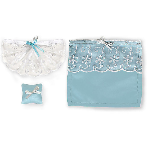 Набор текстиля для дома Одним прекрасным утром  «Голубое небо»Мебель для кукол<br>Характеристики:<br><br>• текстиль для кукольного домика;<br>• крепление штор: липучка;<br>• в комплекте: 4 шторы, покрывало, 2 подушки;<br>• материал: сатин, кружево, вуаль; <br>• размер упаковки: 16х18х8 см;<br>• вес: 210 г.<br><br>Украсить кукольный домик, придать уют спальне, позаботиться о комфорте куколок поможет набор текстиля «Одним прекрасным утром». Шторы на липучках легко крепятся, их можно заменить на другие. Покрывало и подушки выполнены в одном стиле, декорированы кружевом и украшены лентами. <br><br>Набор текстиля для дома Одним прекрасным утром  «Голубое небо» можно купить в нашем интернет-магазине.<br>Ширина мм: 180; Глубина мм: 78; Высота мм: 158; Вес г: 66; Возраст от месяцев: 36; Возраст до месяцев: 168; Пол: Женский; Возраст: Детский; SKU: 7686259;
