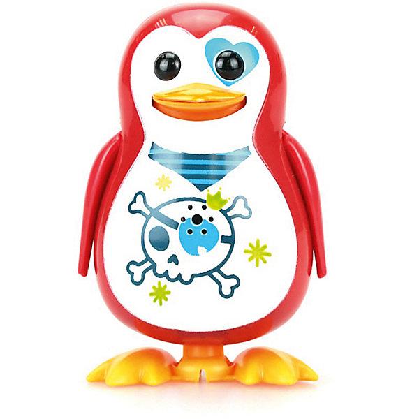 Поющий пингвин с кольцом, с принтом черепа , DigiBirdsИнтерактивные животные<br>Поющий пингвин с кольцом, DigiBirds - оригинальная игрушка, которая вызовет интерес у детей любого возраста. Очаровательный пингвин забавно гогочет и поет 55 разных мелодий в режиме соло или хор. У птички яркое оперение с оригинальным рисунком на животике. Чтобы активизировать пингвина достаточно подуть на него, а чтобы птичка защебетала, нужно посвистеть в кольцо-свисток (входит в комплект). Ребенок может использовать свисток и как кольцо, надев его на два пальца и закрепив на нем птичку, и как насест для своего питомца. Исполняя веселую мелодию пингвин машет крыльями, покачивается и крутится. Игрушка совместима с другими птичками из серии Digibirds. Собрав вместе несколько персонажей Вы можете организовать настоящий птичий хор (пение синхронизируется). В ассортименте пингвины с разными расцветками. <br><br>Дополнительная информация:<br><br>- В комплекте: птичка, свисток для активизации птички, наклейки.<br>- Материал: пластмасса.<br>- Требуются батарейки: 3 х LR44 (входят в комплект).<br>- Размер птички: 7 см.<br>- Размер упаковки: 6,4 x 15,2 x 10,2 см.<br>- Вес: 91 гр.<br><br>Поющего пингвина с кольцом, DigiBirds, можно купить в нашем интернет-магазине.<br>Ширина мм: 64; Глубина мм: 152; Высота мм: 102; Вес г: 91; Цвет: красный; Возраст от месяцев: 36; Возраст до месяцев: 84; Пол: Унисекс; Возраст: Детский; SKU: 7686413;