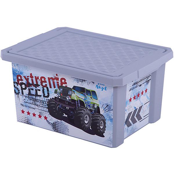 Детский ящик для хранения игрушек X-BOX Супер Трак, 17лЯщики для игрушек<br>Характеристики:<br>• ящик для хранения игрушек;<br>• ящик с крышкой;<br>• декорирование с помощью технологии In Mould Labeling (IML);<br>• ящик можно мыть;<br>• прочный каркас изделия;<br>• материал: пластик;<br>• размер упаковки: 40,5х30,5х21 см;<br>• объем: 17 л.<br>Пластиковый ящик с крышкой используется для хранения детских вещей и игрушек. Боковые стороны ящика декорированы яркими изображениями. Ящик плотно закрывается крышкой с целью защиты игрушек от пыли.<br>Детский ящик для хранения игрушек «X-BOX» «Супер Трак», 17л можно купить в нашем интернет-магазине.<br>Ширина мм: 405; Глубина мм: 305; Высота мм: 210; Вес г: 733; Цвет: серый; Возраст от месяцев: 24; Возраст до месяцев: 84; Пол: Мужской; Возраст: Детский; SKU: 7686438;