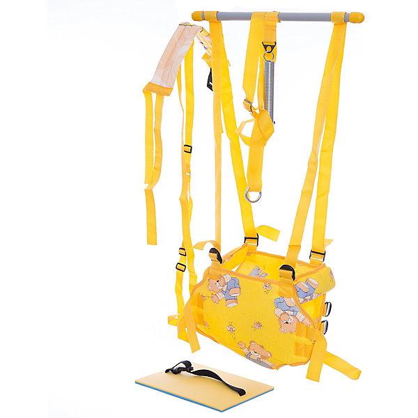 Прыгунки 4 в 1 Фея, желтыеПрыгунки<br>Прыгунки предназначены для малышей, которые уже умеют сидеть. Удобное сиденье-штанишки и подмышечные валики надежно фиксируют малыша внутри и обеспечивают удобство и комфорт. Стальная сверхпрочная пружина, снабжена предохранительным ремнем, ограничивающим размах колебаний и увеличивающим безопасность. Прыгунки легко трансформируются в турник. Подвешиваются с помощью усиленного металлического кольца. В комплекте матрасик для комфортного отдыха на прогулке (траве, скамье). Прыгунки можно трансформировать в удобный поддерживающий поводок, с помощью которого родители смогут страховать малышей, которые еще только учатся ходить. <br><br>Дополнительная информация:<br><br>- Материал: металл, ПЭ, текстиль.<br>- Размер: 160х25х5 см.<br>- Вес: 0,64кг.<br>- Сиденье-штанишки.<br>- Подмышечные валики.<br>- Подставка для ног.<br>- Крепление: металлическое кольцо.<br>- Трансформируется в турник.<br>- Матрасик.<br>- Поводок имеет: регулируемый по ширине пояс, регулируемые по высоте плечевые ремни, регулируемую длину.<br>  <br>Прыгунки 4 в 1 Фея можно купить в нашем магазине.<br>Ширина мм: 1600; Глубина мм: 250; Высота мм: 500; Вес г: 920; Цвет: желтый; Возраст от месяцев: 60; Возраст до месяцев: 132; Пол: Унисекс; Возраст: Детский; SKU: 7686620;