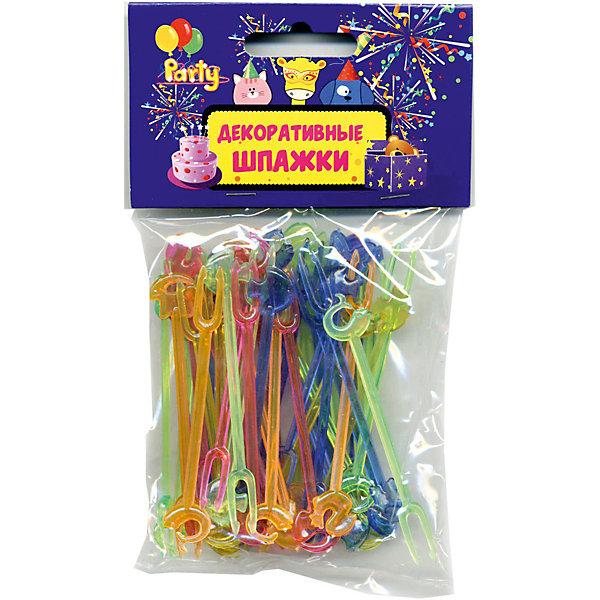 Шпажки  для праздничной сервировки декоративныеАксессуары для детского праздника<br>Характеристики товара:<br><br>• возраст: от 3 лет;<br>• упаковка: пакет с подвесом;<br>• длина: 8,5 см;<br>• материал: полимер;<br>• в упаковке 50 шт;<br>• бренд: Action<br><br>Декоративные шпажки для сервировки от бренда «Action!» отлично подойдут для канапе на детском празднике.<br><br>Шпажки с оригинальными головками украсят любое блюдо и создадут праздничную атмосферу. Благодаря им стол станет ярче, а подготовка к фуршету станет привлекательнее и интереснее для маленьких помощников.<br><br>Товар изготовлен из качественных материалов и безопасен для детей.<br><br>Шпажки для праздничной сервировки «Action!» можно купить в нашем интернет-магазине.<br>Ширина мм: 100; Глубина мм: 10; Высота мм: 100; Вес г: 41; Возраст от месяцев: 36; Возраст до месяцев: 2147483647; Пол: Унисекс; Возраст: Детский; SKU: 7686891;