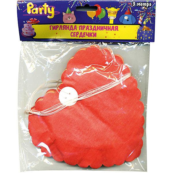Гирлянда праздничная ACTION!  Сердечки, 3мБаннеры и гирлянды для детской вечеринки<br>Характеристики товара:<br><br>• возраст: от 3 лет;<br>• упаковка: пакет с подвесом;<br>• цвет: желтый, оранжевый, красный;<br>• материал: бумага;<br>• длина: 3 м;<br>• бренд: Action<br><br>Гирлянда декоративная к празднику Сердечки станет прекрасным украшением любого торжества, посвященного празднованию дня рождения. Гирлянда удивит каждого юного именинника.<br><br>Такое украшение отлично вписывается в домашний интерьер, принося атмосферу праздника. Благодаря объемным цветным сердечкам настроение любого праздника станет намного красочнее и веселее.<br><br>В центре гирлянды протянута нить, с помощью которой украшение можно растягивать и вешать, а потом снова складывать в изначальное положение.<br><br>Гирлянду «Сердечки» «Action!» можно купить в нашем интернет-магазине.<br>Ширина мм: 100; Глубина мм: 20; Высота мм: 100; Вес г: 144; Возраст от месяцев: 36; Возраст до месяцев: 2147483647; Пол: Унисекс; Возраст: Детский; SKU: 7686965;