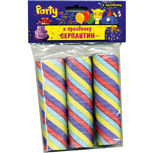 Набор серпантина к празднику, полосатыйАксессуары для детского праздника<br>Характеристики товара:<br><br>• возраст: от 3 лет;<br>• упаковка: пакет с подвесом;<br>• материал: бумага;<br>• размер: 0,7х300 см;<br>• в упаковке 3 шт;<br>• бренд: Action<br><br>Набор серпантина от бренда «Action!» станет прекрасным дополнением любого торжества. Эти ленточки, которые нужно бросать в воздух, удивят каждого юного гостя.<br><br>Такое украшение отлично вписывается в домашний интерьер, принося атмосферу праздника. Играть с серпантином очень просто: нужно кинуть свернутый рулончик вверх, чтобы он раскрылся в полете.<br><br>Такой серпантин принесет любому празднику красок, отличное настроение и особый колорит.<br><br>Набор серпантина «Action!» можно купить в нашем интернет-магазине.<br>Ширина мм: 50; Глубина мм: 20; Высота мм: 50; Вес г: 90; Возраст от месяцев: 36; Возраст до месяцев: 2147483647; Пол: Унисекс; Возраст: Детский; SKU: 7686967;