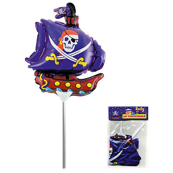 Фольгированный шар на палочке ACTION! Пиратский корабль, 20х20см