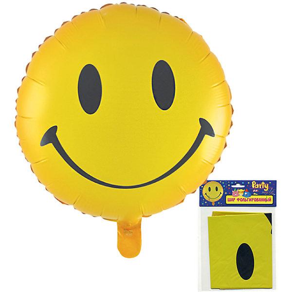 Фольгированный шар ACTION!  Смайлик, 53х47смВоздушные шары<br>Характеристики товара:<br><br>• возраст: от 3 лет;<br>• упаковка: пакет с подвесом;<br>• материал: фольга;<br>• цвет: желтый;<br>• размер: 53х47 см;<br>• бренд: Action<br><br>Шар фольгированный «Смайлик» от бренда «Action!» станет отличным украшением любого торжества или дополнением к подарку.<br><br>Изделие в сдутом виде нужно накачать гелием. Такое украшение поднимет настроение и подарит позитив благодаря милой мордочке, изображенной на шарике.<br><br>Изделие выполнено из качественных материалов и абсолютно безопасно для детей. <br><br>Шар фольгированный «Смайлик» «Action!» можно купить в нашем интернет-магазине.<br>Ширина мм: 100; Глубина мм: 10; Высота мм: 100; Вес г: 54; Возраст от месяцев: 36; Возраст до месяцев: 2147483647; Пол: Унисекс; Возраст: Детский; SKU: 7686977;