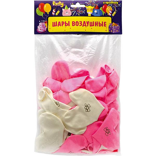 Купить Воздушные шары ACTION! Сердечки Нежность, 50шт, Китай, Унисекс