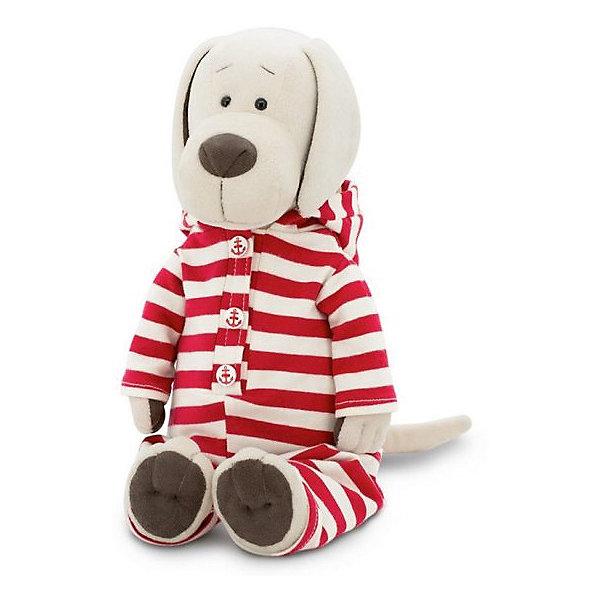 Мягкая игрушка Orange Собачка Лапуська: Забавная пижама, 25 смМягкие игрушки животные<br>Характеристики:<br><br>• возраст: 3+;<br>• высота игрушки: 25 см;<br>• материал: искусственный мех, текстиль, пластик;<br>• набивка: полиэфирное волокно, полиэтиленовые гранулы;<br>• габариты упаковки: 40х30х3 см.<br><br>Веселый песик выполнен из искусственного меха белого цвета. Собачка Лапуська одета в полосатую пижаму со смешным колпачком на голове.<br><br>Игрушка очень приятная на ощупь. Правильная набивка игрушки позволяет не только удобно играть, но и спать с ней в кроватке.<br><br>Симпатичная собачка – замечательный подарок для детей и подростков.<br><br>Мягкую игрушку «Собачка Лапуська: Забавная пижама», 25 см, Orange можно приобрести в нашем интернет-магазине.<br>Ширина мм: 400; Глубина мм: 300; Высота мм: 30; Вес г: 20; Возраст от месяцев: 36; Возраст до месяцев: 180; Пол: Унисекс; Возраст: Детский; SKU: 7687010;