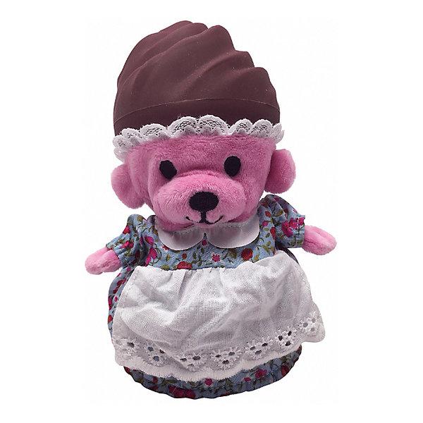 Игрушка Медвежонок в капкейке Cupcake Bears, ШоккоКоллекционные фигурки<br>Характеристики:<br><br>• возраст: 3+;<br>• высота кекса: 9 см;<br>• высота медвежонка: 15 см;<br>• материал: пластик, текстиль;<br>• габариты упаковки: 9,3х9,3х10 см;<br>• вес в упаковке: 90 г.<br><br>Небольшие кексики вкусно пахнут и выглядят очень аппетитно. Но если взять их в руки и перевернуть низ кекса, то в один миг лакомство превратится в медвежонка. <br><br>Плюшевый медвежонок одет в милое платье с силиконовой шапочкой на голове. Нежные медвежата понравятся малышкам, ведь с ними так здорово играть. <br><br>Можно собрать большую коллекцию из 12 кексов с разноцветными силиконовыми шапочками, которые трансформируются медвежат.<br><br>Игрушку «Медвежонок в капкейке. Шокко» Cupcake Bears, можно приобрести в нашем интернет-магазине.<br>Ширина мм: 93; Глубина мм: 93; Высота мм: 100; Вес г: 90; Цвет: коричневый; Возраст от месяцев: 36; Возраст до месяцев: 168; Пол: Женский; Возраст: Детский; SKU: 7687029;