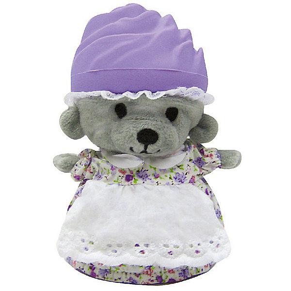Игрушка Медвежонок в капкейке Cupcake Bears, ФиалкаКоллекционные фигурки<br>Характеристики:<br><br>• возраст: 3+;<br>• высота кекса: 9 см;<br>• высота медвежонка: 15 см;<br>• материал: пластик, текстиль;<br>• габариты упаковки: 9,3х9,3х10 см;<br>• вес в упаковке: 90 г.<br><br>Небольшие кексики вкусно пахнут и выглядят очень аппетитно. Но если взять их в руки и перевернуть низ кекса, то в один миг лакомство превратится в медвежонка. <br><br>Плюшевый медвежонок одет в милое платье с силиконовой шапочкой на голове. Нежные медвежата понравятся малышкам, ведь с ними так здорово играть. <br><br>Можно собрать большую коллекцию из 12 кексов с разноцветными силиконовыми шапочками, которые трансформируются медвежат.<br><br>Игрушку «Медвежонок в капкейке. Фиалка» Cupcake Bears, можно приобрести в нашем интернет-магазине.<br>Ширина мм: 93; Глубина мм: 93; Высота мм: 100; Вес г: 90; Цвет: braun/lila; Возраст от месяцев: 36; Возраст до месяцев: 168; Пол: Женский; Возраст: Детский; SKU: 7687031;