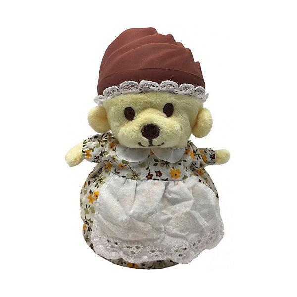 Игрушка Медвежонок в капкейке Cupcake Bears, ФлораКоллекционные фигурки<br>Характеристики:<br><br>• возраст: 3+;<br>• высота кекса: 9 см;<br>• высота медвежонка: 15 см;<br>• материал: пластик, текстиль;<br>• габариты упаковки: 9,3х9,3х10 см;<br>• вес в упаковке: 90 г.<br><br>Небольшие кексики вкусно пахнут и выглядят очень аппетитно. Но если взять их в руки и перевернуть низ кекса, то в один миг лакомство превратится в медвежонка. <br><br>Плюшевый медвежонок одет в милое платье с силиконовой шапочкой на голове. Нежные медвежата понравятся малышкам, ведь с ними так здорово играть. <br><br>Можно собрать большую коллекцию из 12 кексов с разноцветными силиконовыми шапочками, которые трансформируются медвежат.<br><br>Игрушку «Медвежонок в капкейке. Флора» Cupcake Bears, можно приобрести в нашем интернет-магазине.<br>Ширина мм: 93; Глубина мм: 93; Высота мм: 100; Вес г: 90; Цвет: желтый; Возраст от месяцев: 36; Возраст до месяцев: 168; Пол: Женский; Возраст: Детский; SKU: 7687035;