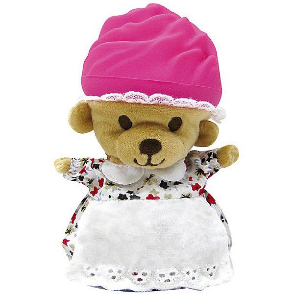 Игрушка Медвежонок в капкейке Cupcake Bears , МимикоКоллекционные фигурки<br>Характеристики:<br><br>• возраст: 3+;<br>• высота игрушки: 15 см;<br>• материал: пластик, текстиль;<br>• габариты упаковки: 9,3х9,3х10 см;<br>• вес в упаковке: 90 г.<br><br>Небольшие кексики так вкусно пахнут и выглядят очень аппетитно. Но если взять их в руки и перевернуть низ кекса, то в один миг лакомство превратится в медвежонка. <br><br>Плюшевый медвежонок одет в милое платье с силиконовой шапочкой на голове. Милые медвежата понравятся малышкам, ведь с ними так здорово играть. <br><br>Можно собрать большую коллекцию из 12 кексов с разноцветными силиконовыми шапочками, которые трансформируются медвежат.<br><br>Игрушку «Медвежонок в капкейке. Мимико» Cupcake Bears, можно приобрести в нашем интернет-магазине.<br>Ширина мм: 93; Глубина мм: 93; Высота мм: 100; Вес г: 90; Цвет: pink/blau; Возраст от месяцев: 36; Возраст до месяцев: 168; Пол: Женский; Возраст: Детский; SKU: 7687039;