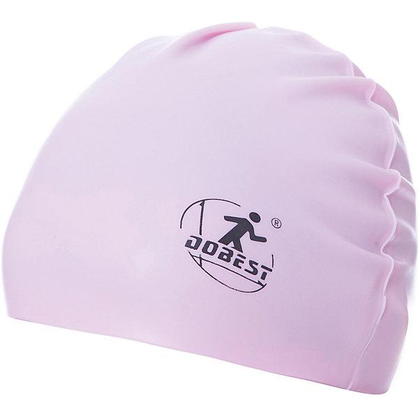 Силиконовая шапочка для плавания Dobest, розоваяОчки, маски, ласты, шапочки<br>Характеристики:<br><br>• тип игрушки: шапочка для плавания;<br>• возраст: от 5 лет;<br>• цвет: розовый;<br>• материал: силикон;<br>• размер: универсальный;<br>• бренд: Dobest.<br><br>Силиконовая шапочка для плавания Dobest, розовая  защищает волосы от хлорированной воды и помогает избежать массу неудобств во время посещения бассейна. Благодаря своей эластичности, шапочка удобно и плотно облегает голову, сохраняя волосы относительно сухими, подходит к любому размеру головы.<br><br> Ее легко одевать и снимать, так как она очень хорошо растягивается. Силикон не вызывает аллергии и очень прост в уходе — после купания в бассейне шапочку достаточно просто прополоскать в пресной воде и высушить.<br><br>Силиконовую шапочку для плавания Dobest, розовую можно купить в нашем интернет-магазине.<br>Ширина мм: 130; Глубина мм: 210; Высота мм: 5; Вес г: 70; Возраст от месяцев: 60; Возраст до месяцев: 2147483647; Пол: Женский; Возраст: Детский; SKU: 7687366;