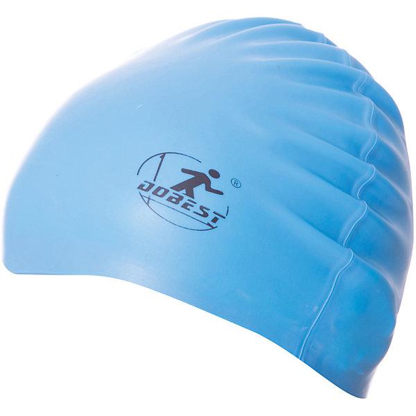 Силиконовая шапочка для плавания Dobest, голубая
